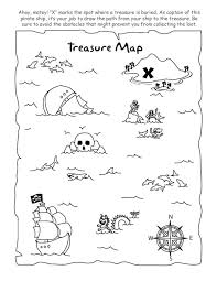 treasure buried treasure coloring kiddos