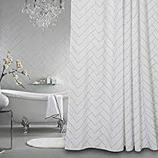 Hotel Quality Shower Curtains Hotel Quality White Striped Mold Resistant Fabric