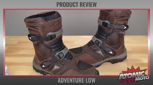 brown motocross boots forma adventure low boots review by atomic moto youtube