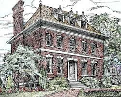 brick colonial house plans stately brick home plan 11602gc architectural designs house