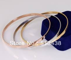 silver gold bracelet bangle images 5pcs set stainless steel cuff bracelet women jewelry gold solid jpg