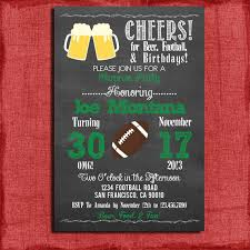 surprise birthday beer and football party invitation for 21st