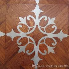 2017 copper wood floor mosaic floor combination floor high end
