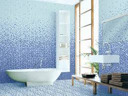 Beautiful Shower With Carrara Marble Tile Wall And Floor Bench - Blue bathroom design