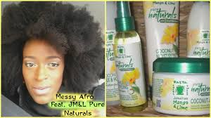 Jamaican Skin Care Products Messy Afro Tutorial Feat Jamaican Mango U0026 Lime Pure Naturals L