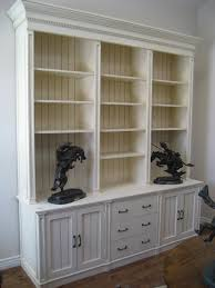 White Contemporary Bookcase by Furniture Distressed Bookcase Collections For Appealing Interior