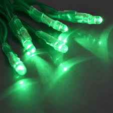 tiny led battery operated stringlight strand 10 green bulbs