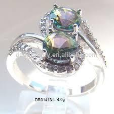 ebay rings opal images Zircon stone silver ring mystic topaz ebay ring silver fashion jpg