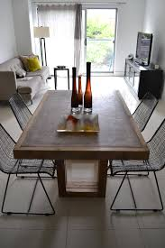 concrete dining table concrete and reclaimed wood table