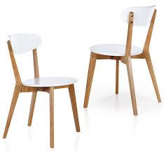 chaise bois et blanc chaise transparente astrid