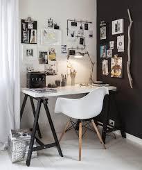 decorer un bureau décoration scandinave noir et blanc