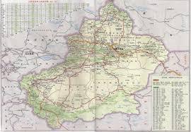 map in road maps of xinjiang xinjiang far west china