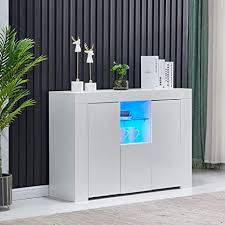 white gloss kitchen floor cupboard white sideboard storage cabinet high gloss kitchen cupboard with led lights floor standing display cupboard buffet table for living room hallway