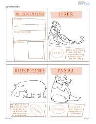 zoo printable passport for kids page 1 i wanna go