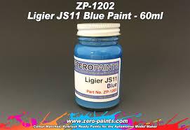 blue paints ligier js11 blue paint 60ml zp 1202 zero paints