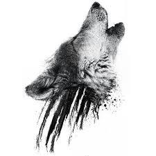 howling wolf design