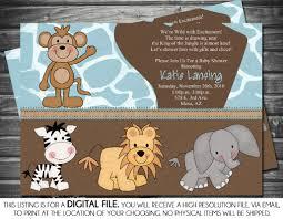4 brilliant elephant themed baby shower invitations