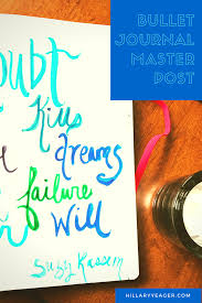 bullet journal masterpost for getting started u2014 hillary yeager