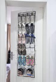 shoe rack hanging 22 pockets clear over door hanging bag shoe rack hanger storage tidy