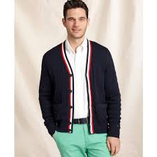 hilfiger sweater mens lyst hilfiger crosby cable cardigan sweater in black for