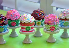 custom cupcakes creative cupcake stand monogram