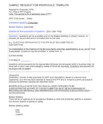 rfp template free word templates