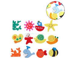 baby kid wooden magnet educational toy kitchen fridge cartoon
