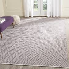 safavieh hand woven montauk grey ivory cotton rug 8 u0027 x 10 u0027 by