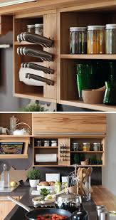 kitchen design idea include a built in knife block kitchen