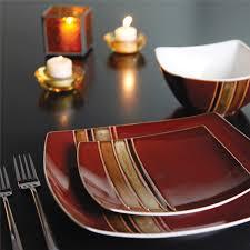 gibson elite regent classic 16 square dinnerware set