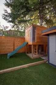 Backyard Play Houses by Backyard Playhouse In Kids Contemporary With Corner Fence Next To