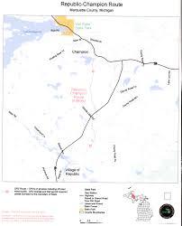 Sturgis Michigan Map by Champion Republic Team Riders