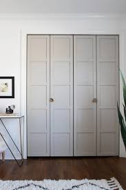 how to make bifold cabinet doors paneled bi fold closet door diy room for tuesday
