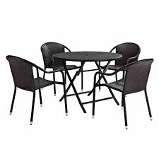 Patio Dining Sets Walmart - crosley furniture palm harbor 5 piece cafe dining set walmart com