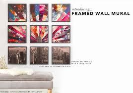 framed wall mural deny designs