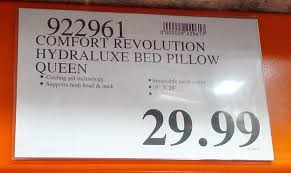 memory foam bed pillows comfort revolution memory foam hydraluxe cooling bed pillow
