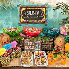 luau table centerpieces tiki buffet table idea luau food ideas luau party ideas