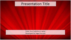 free red powerpoint template red abstract powerpoint template 4068