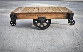 factory cart coffee table wheels u2014 home design and decor antique