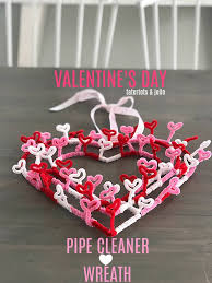 s day pipe cleaner wreath with items from the dollar