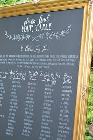 large chalk board table plan in gold frame chalkboard signs
