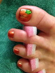 my mom u0027s pumpkin toenails for fall 2013 hair u0026 nails u0026 face