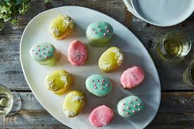 two bite cakes that look like easter eggs and taste even better