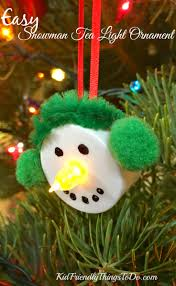 easy snowman tea light ornament craft simple crafts snowman and
