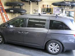 honda odyssey roof rails cascade rack rhino rack custom base rack installation 2014