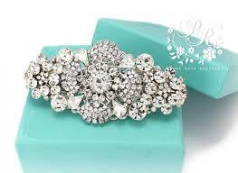 barrette clip wedding hair clip rhinestone clear hair clip bridal hair