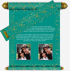 E Wedding Invitations Scroll Style Email Wedding Invitation 9 Email Wedding Invitation