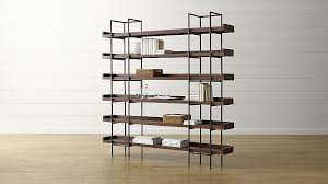Metal And Wood Bookshelves by Beckett 6 High Shelf Crate And Barrel