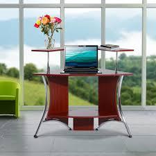 Schreibtisch H Enverstellbar Eck Homcom Sitz Steh Aufsatz Computertisch Schreibtisch Real