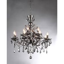 collins imperial silver crystal 12 light chandelier chandeliers
